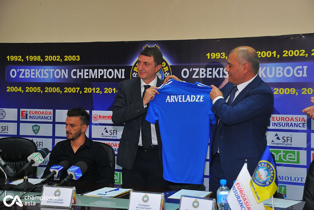 Pakhtakor presentation Arveladze and Simic