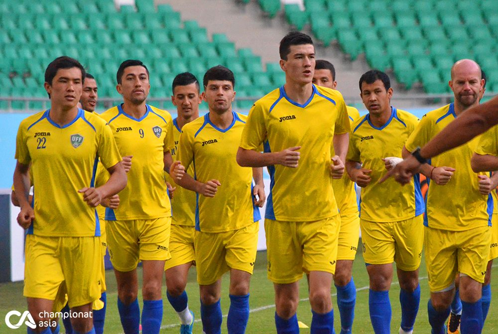 Official training of the national team of Uzbekistan (04/09/2017)