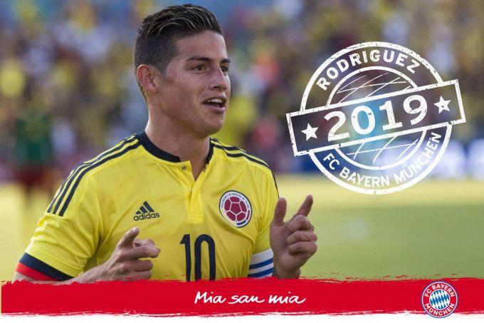 """Rasmiy xabar: Xames Rodriges """"Bavariya"""" futbolchisi"""