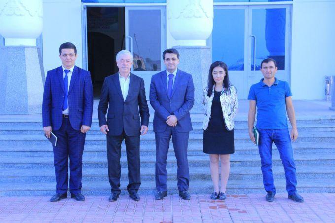 """Elnur Mamedov """"So'g'diyona"""" stadioniga tashrif buyurdi"""