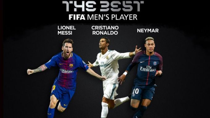 "Bugun ""The Best FIFA Football Awards 2017"" bo'ladi"