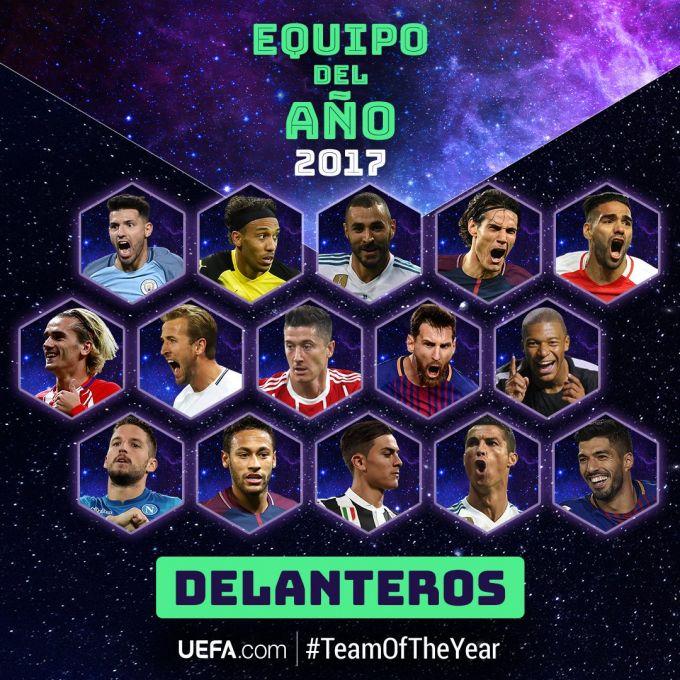 Messi, Ronaldu, Neymar, Ramos va De Xea UEFA talqiniga ko'ra yil ramziy terma jamoasiga nomzod