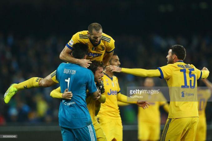 Yuventus 20 yilda ilk bor Napoli maydonida gol o'tkazmadi