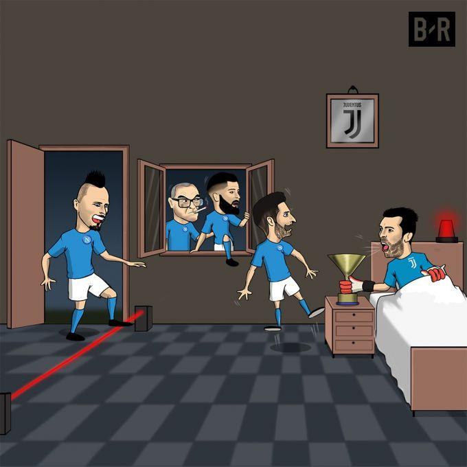 """Karikatura: """"Napoli""""ni Italiya chempioni """"ushlab qoldi"""""""