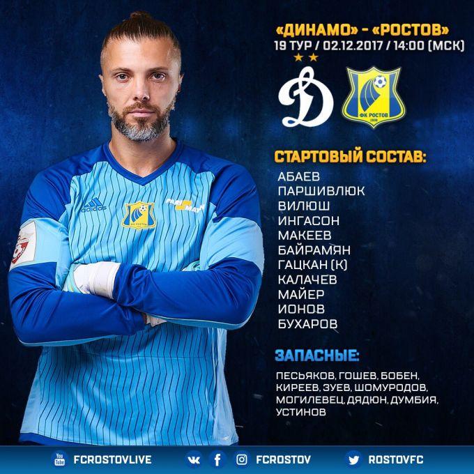 """""""Dinamo"""" - """"Rostov"""". SHomurodov zaxirada"""