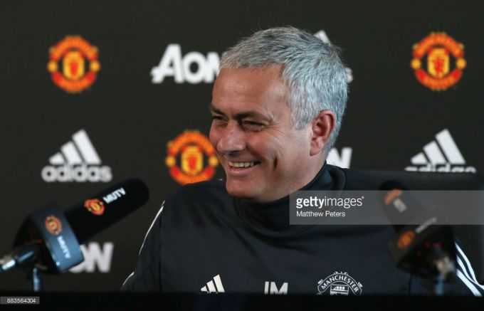 """Arsenal"" - ""Manchester Yunayted"". Mourino ishtirokida matbuot-anjumani"