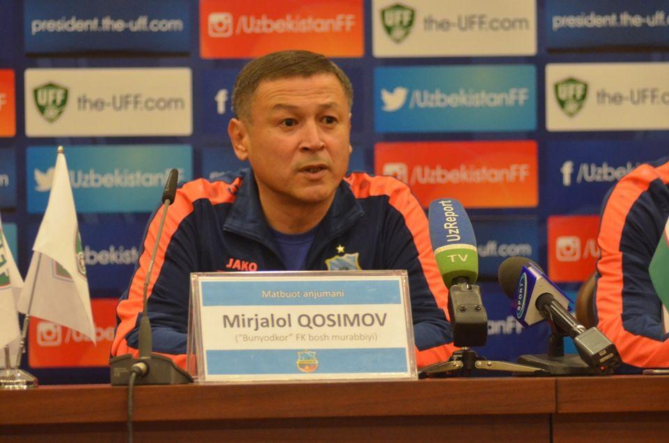 """Mirjalol Qosimov: """"Futbolchilarim bilan faxrlanaman""""- uzfifa.net."""