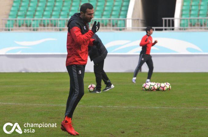 """""""Lokomotiv"""" final bahsi oldidan rasmiy mashg'ulot o'tkazdi (FOTO)"""