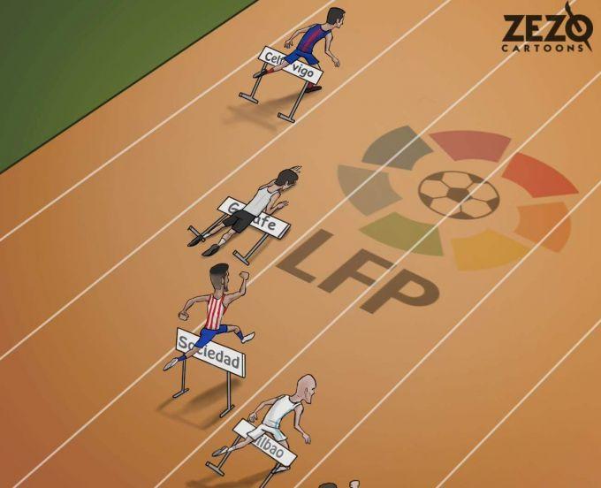 Karikatura: La Liga etakchilari qoqilishdi