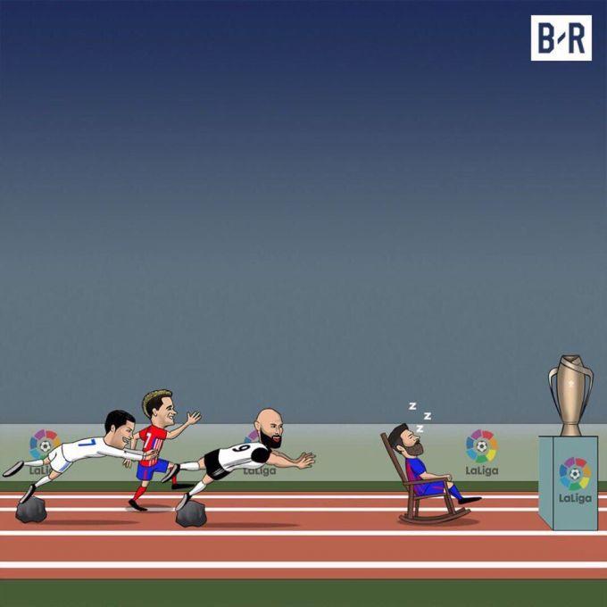 Ispaniya. CHempionlik poygasida nima gap? (karikatura)