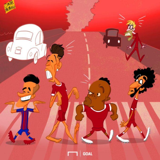 "Omar Momanidan karikatura: ""Liverpul"" kvarteti endi yo'q"