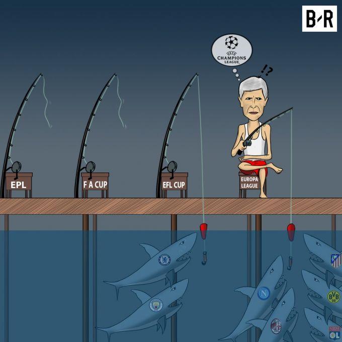 """Karikatura: """"Arsenal""""ning """"qarmoq""""lari uzilmoqda"""