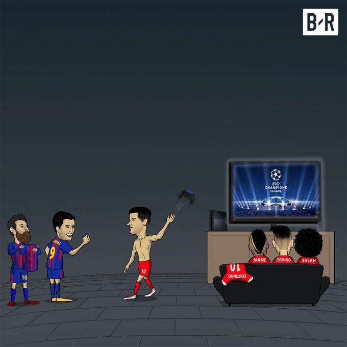 """Karikatura: Koutino """"Barselona"""" uchun CHempionlar ligasidan voz kechdi"""