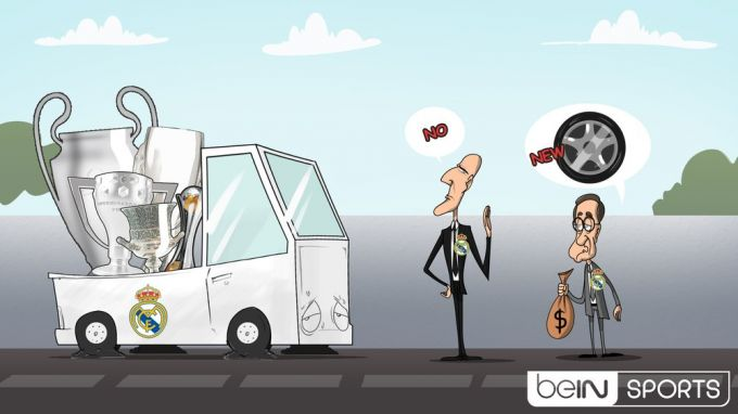 Karikatura: Zidan yangisini xohlamayapti
