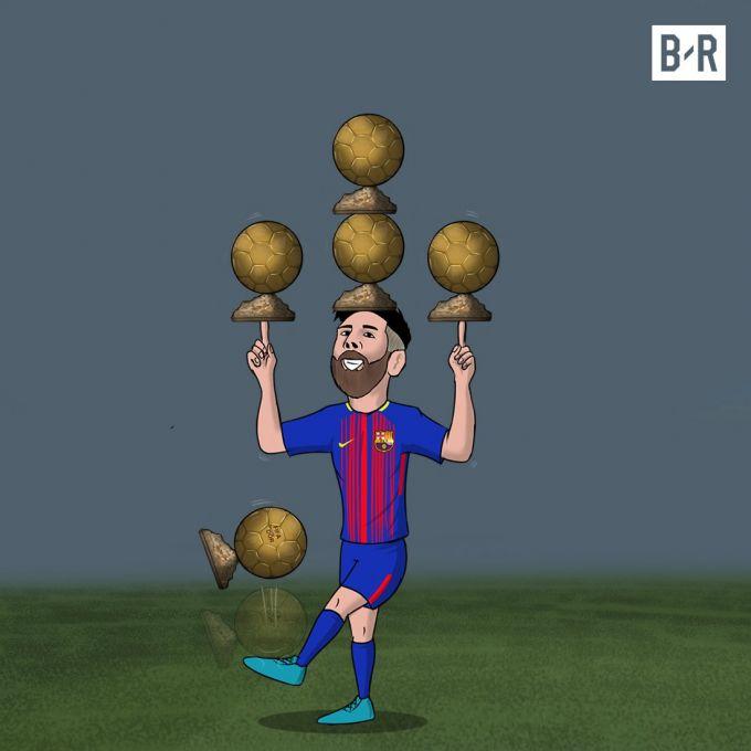 """Karikatura: Messi 2 yil oldin shu sanada """"Oltin to'p"""" olgan edi"""