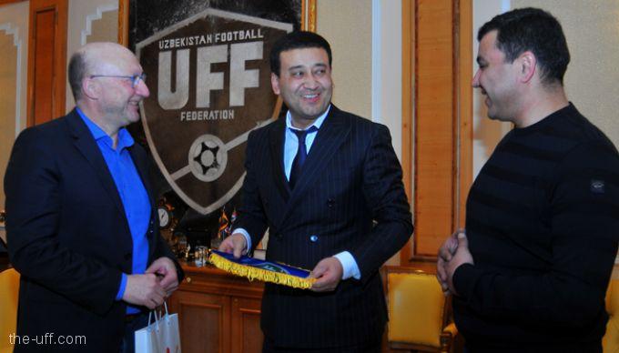 Belgiyalik mutaxassis Kris van Puyvelde O'FF prezidenti Umid Ahmadjonov bilan uchrashdi