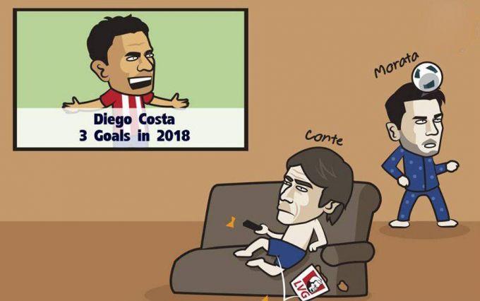 Karikatura: Antonio Konte Diego Kostasiz qiynalmoqda