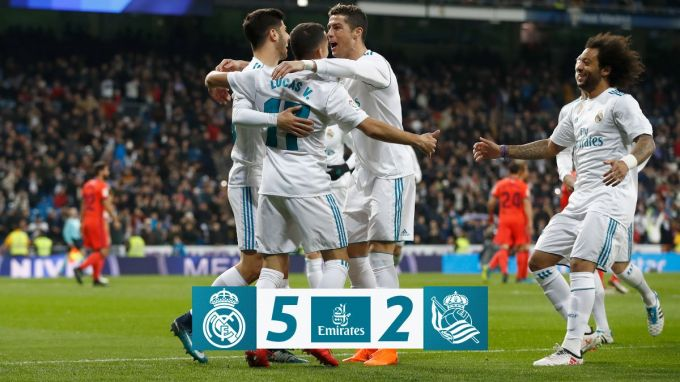 """La Liga. """"Real""""dan yirik g'alaba, Ronaldudan xet-trik"""