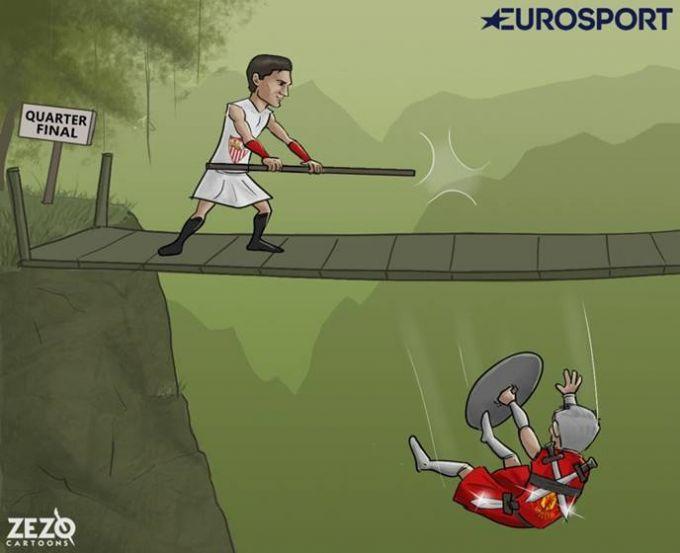 Karikatura: Mourino engildi