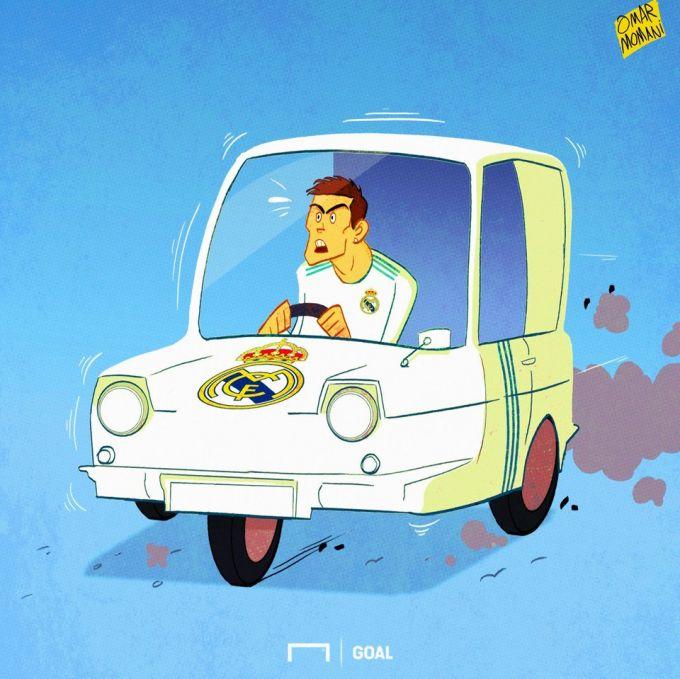 Omar Momanidan karikatura: Ronaldu doimo kerakli paytda paydo bo'ladi