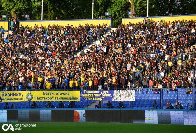 """""""Paxtakor"""" stadioniga muxlislar tashrifi o'tgan yilga nisbatan 335 foizga o'sdi"""