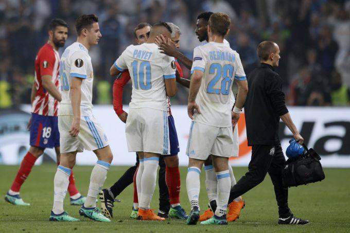 "Evropa ligasi. ""Marsel"" - ""Atletiko M"". Dimitri Payet jarohat olib maydonni tark etdi. Foto"