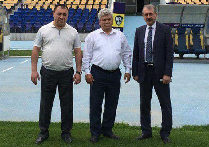"""CHelyabinsk viloyati Jismoniy tarbiya va sport vaziri """"Paxtakor"""" stadionida bo'ldi"""