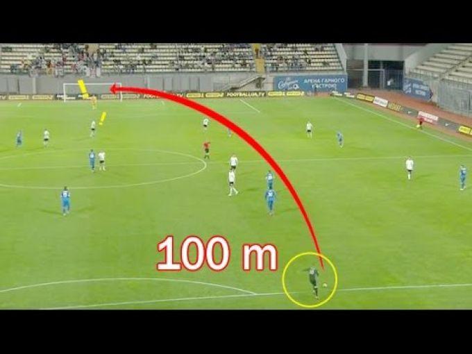 100 metrdan gol. Darvozabonlarning super zarbalari (VIDEO)