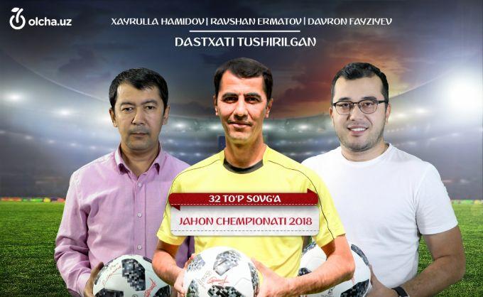 Ravshan Ermatov, Xayrulla Hamidov va Davron Fayziev dastxati tushirilgan JCH-2018 to'plarini yutib oling!