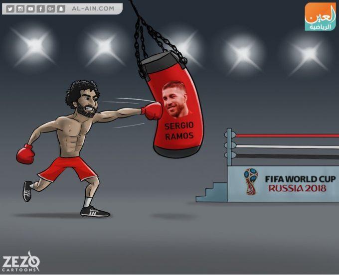 Karikatura: Muhammad Salah Jahon chempionatiga tayyorlanmoqda