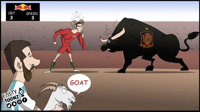 Karikatura. Ronaldu - Ispaniya 3:3