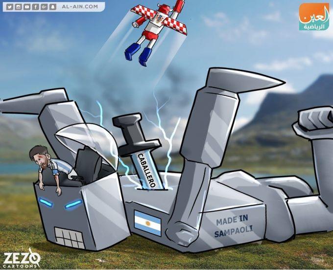 Karikatura: Xorvatiya Argentinani taslim etdi