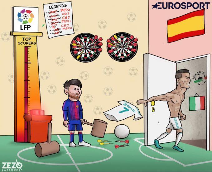 Karikatura: Ronaldu yangi chaqiruv xohlamoqda