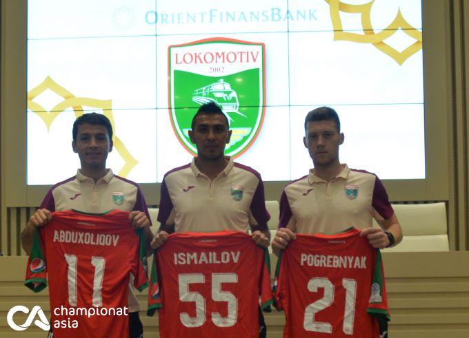 """FOTOGALEREYA. """"Lokomotiv"""" yangi futbolchilarni tanishtirdi"""