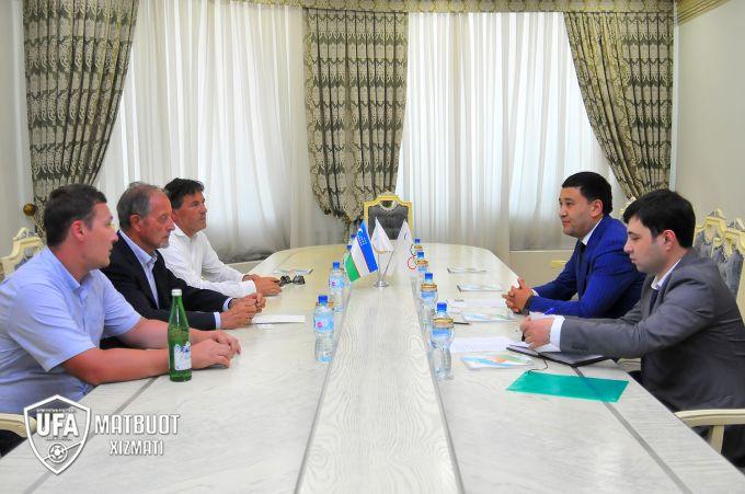 Umid Ahmadjonov Italiya murabbiylari associaciyasi prezidenti bilan uchrashdi