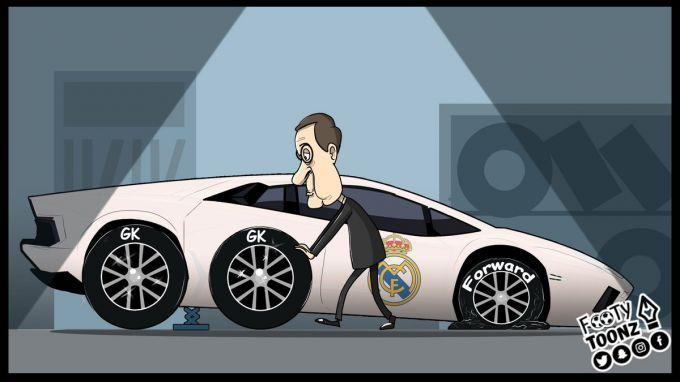 Karikatura: Florentino Peres darvozaga ko'proq etibor berdi
