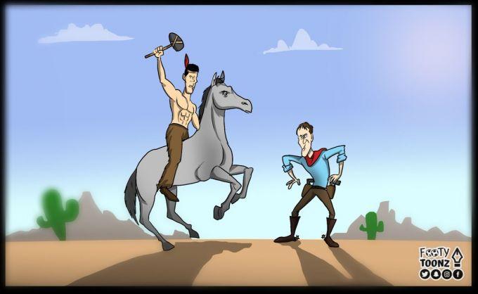 """""""Footy Toonz""""dan navbatdagi karikaturani etiboringizga havola etamiz. Bugun Evropa superkubogi. Lopetegi vs Simeone"""