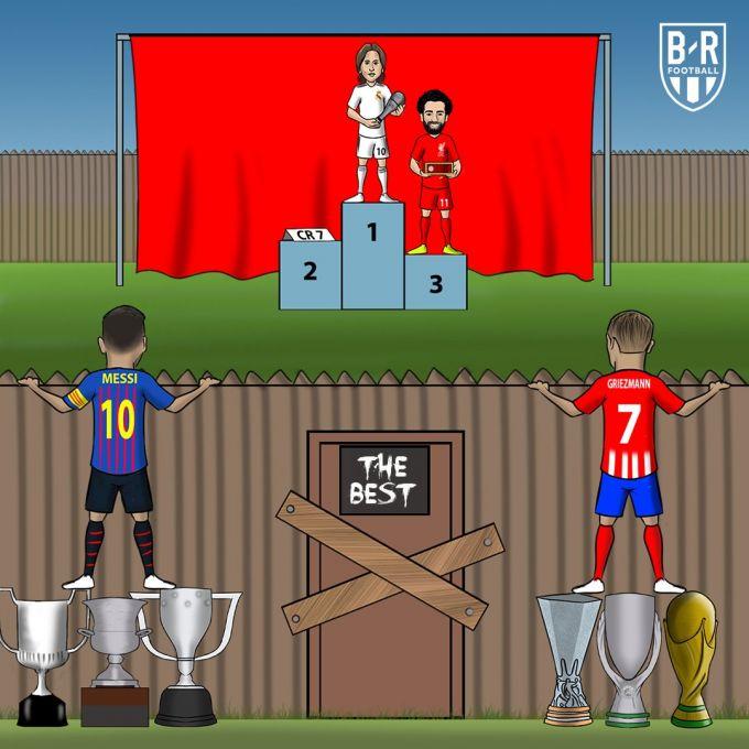 Karikatura: Modrich eng yaxshi, Messi va Grizmann esa chetda qolib ketdi