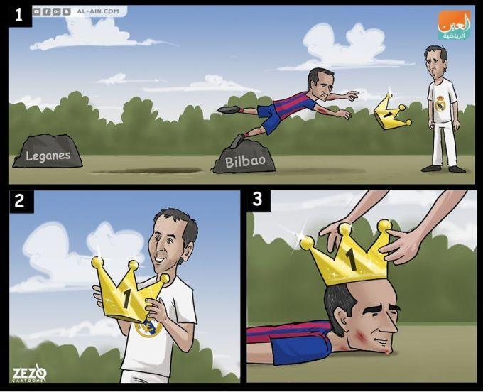 Karikatura: Valverde vs Lopetegi
