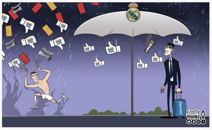 """Karikatura: Ronaldu """"Real""""dan ketgach, qanday ahvolda qoldi?!"""