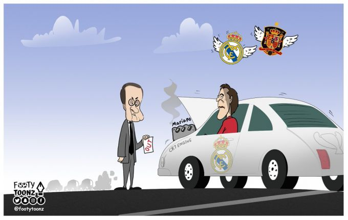 Karikatura: Peres Lopetegini istefoga chiqardi