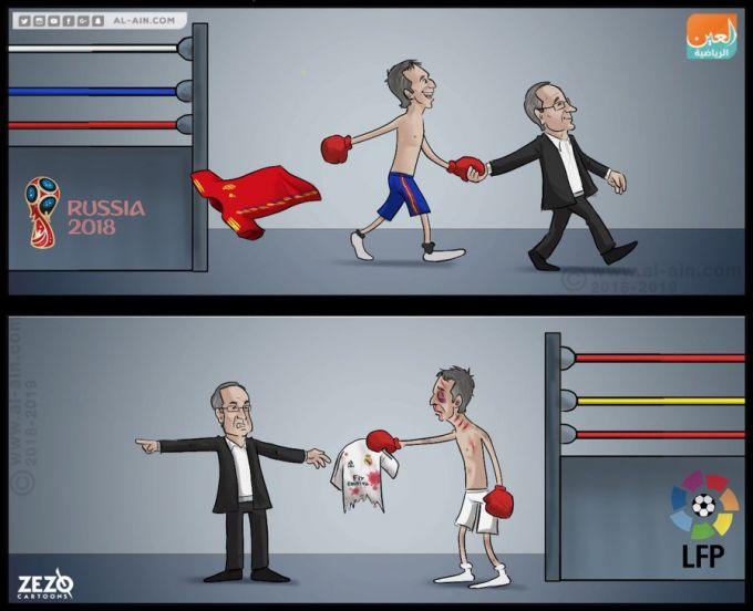 Karikatura: Lopetegining qismati