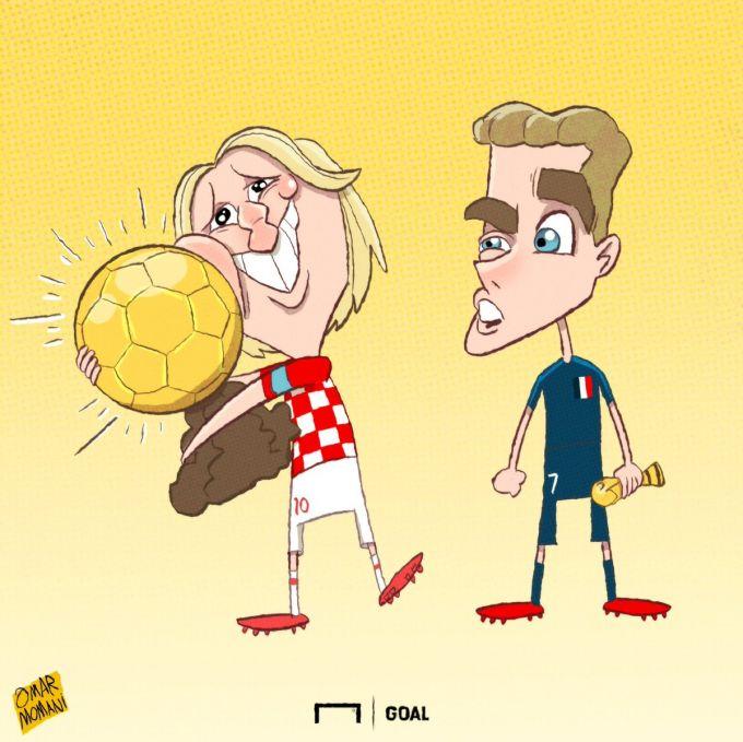 """Omar Momanidan yangi karikatura: """"Oltin to'p"""" yoki Jahon chempionati kubogi"""