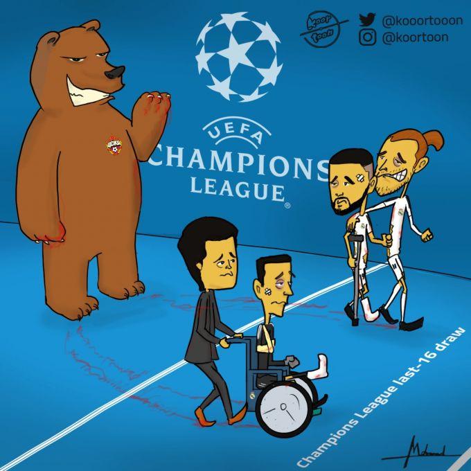 """Karikatura: CSKA """"Real""""ni ayab o'tirmadi"""