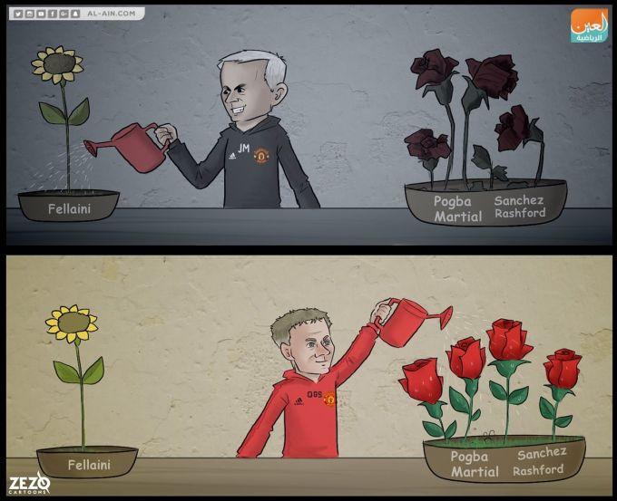 Karikatura: MYU futbolchilarining ikki murabbiy davridagi holati