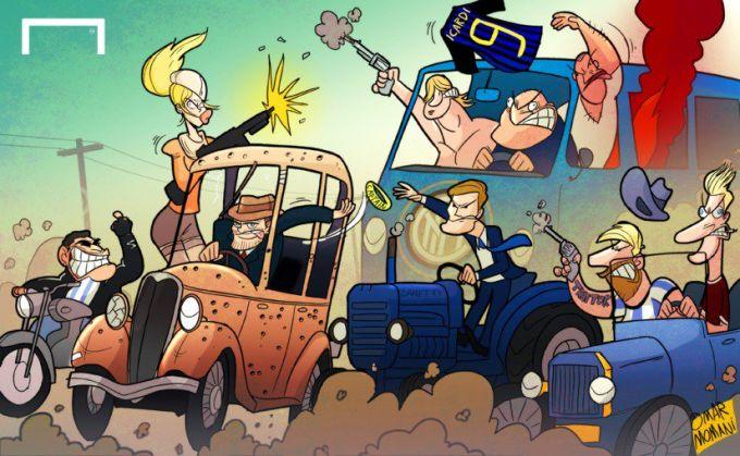 """Omar Momanidan yangi karikatura: Ikardi endi """"Inter"""" sardori emas"""
