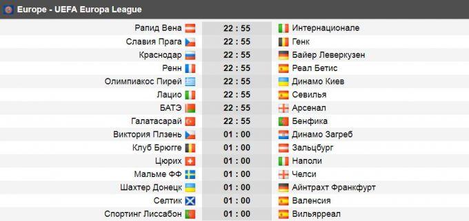 """Evropa ligasi. Bugun """"Arsenal"""" Belarusda, """"Inter"""" Avstriyada, """"CHelsi"""" SHveciyada mehmon"""