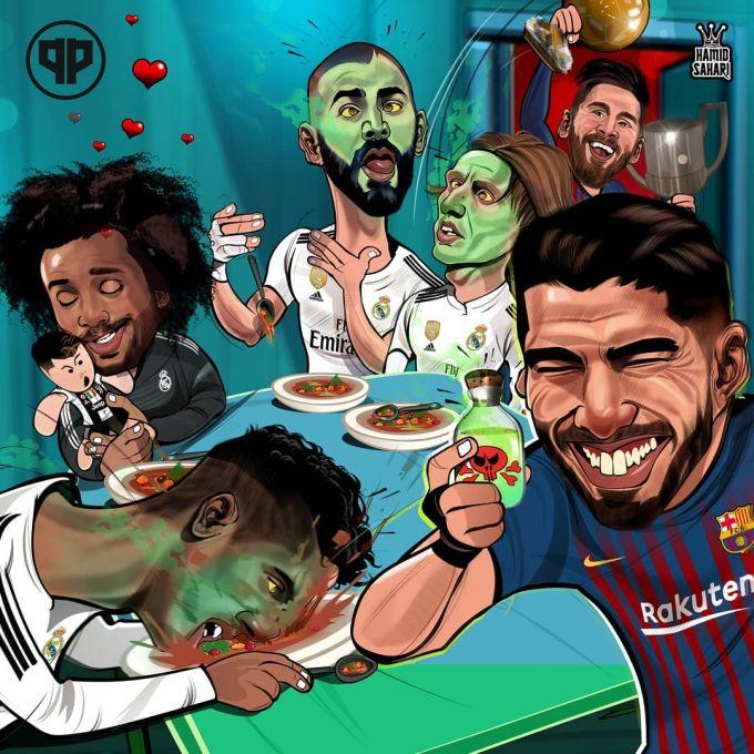 "Karikatura: Luis Suares ""Real"" futbolchilarini zaxarladi"