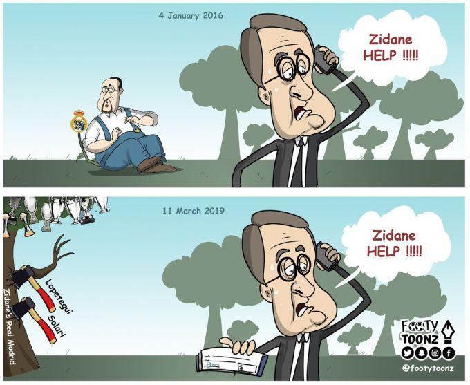 "Karikatura: Zidan ""Real""ga qaytdi"
