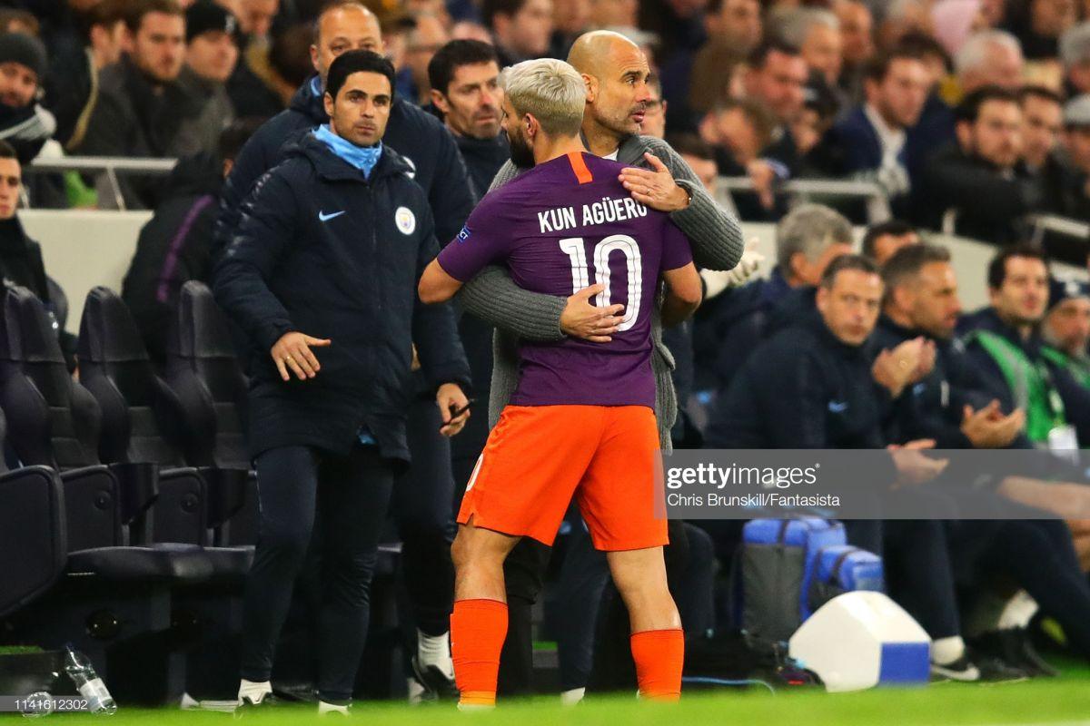 """Gvardiola: """"Tottenxem"""" bilan o'yinda """"SHalke""""ga qarshi bahsdagidan ko'ra yaxshiroq o'ynadik, ammo o'shanda Sane 45 metrdan gol urgandi, Londonda esa penaltidan foydalana olmadik"""""""